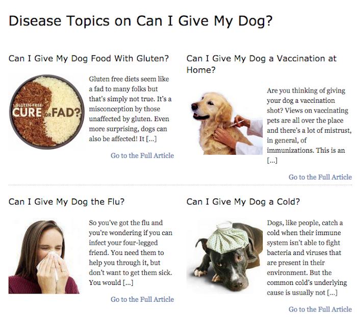 Disease Topics