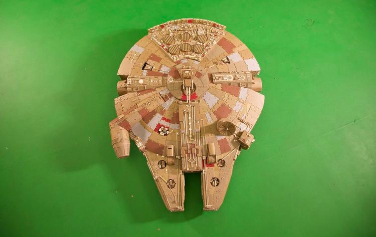 Cardboard Millennium Falcon