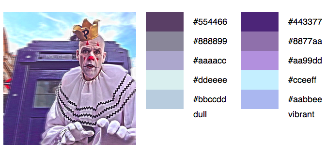 Puddles Pity Party Color Palette
