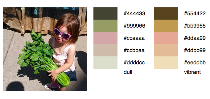 Amelia Tickle Color Palette