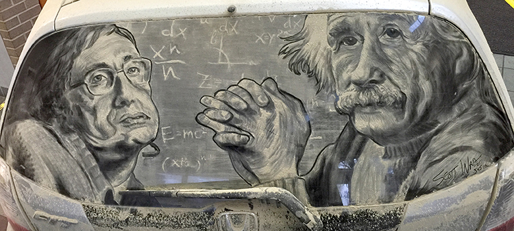 Artist Creates Highly Detailed and Shaded Works of Art on Dirty Car Windows