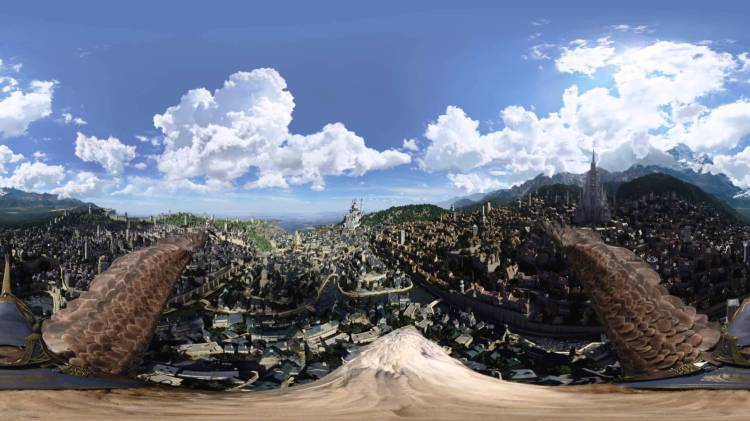 A 360-Degree Video Exploring the City of Stormwind in the 'Warcraft' Movie From the Back of a Flying Griffon