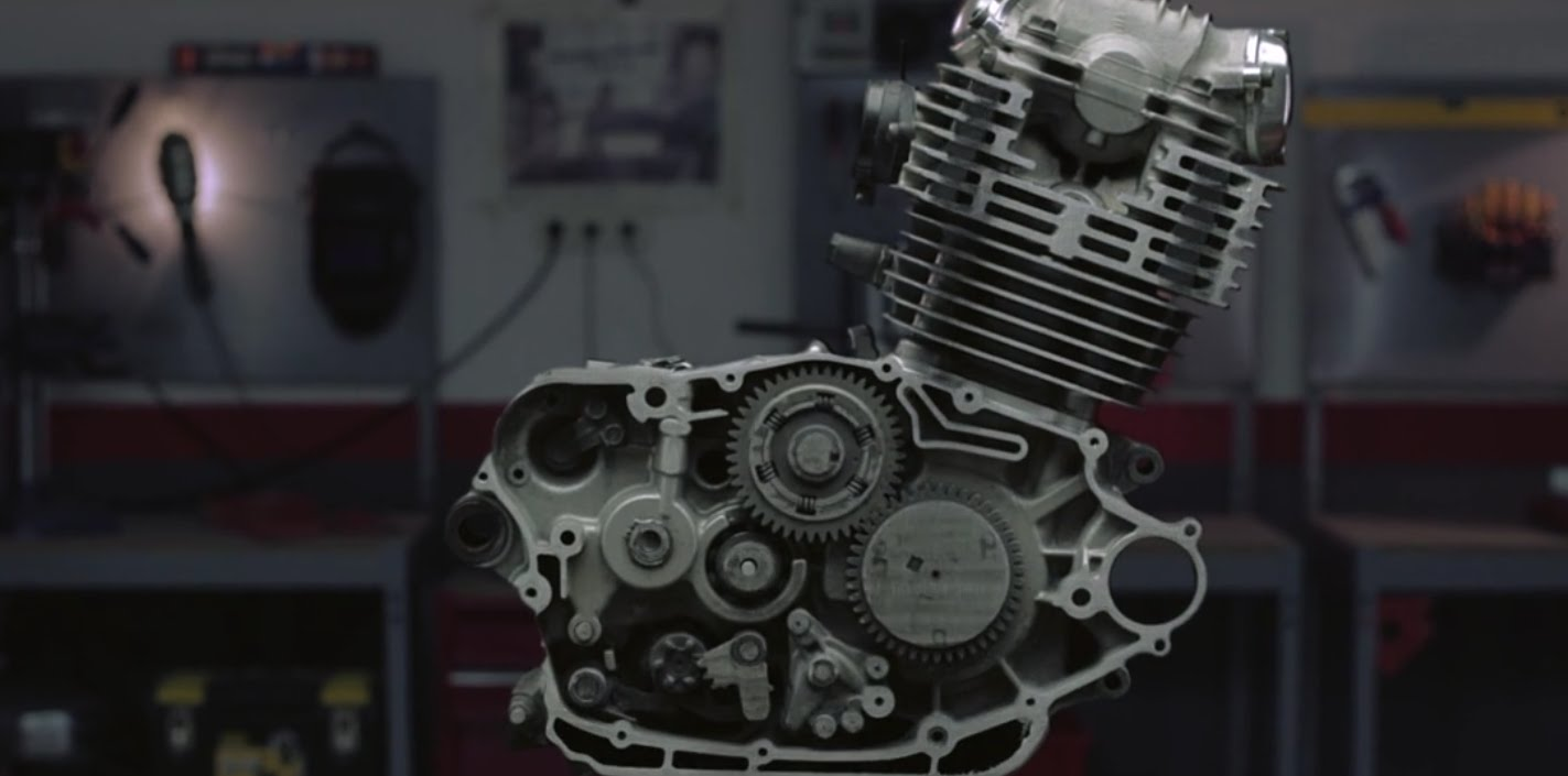 Fascinating Stop-Motion Video of a Motorcycle Engine Being Sanded Down One Millimeter at a Time