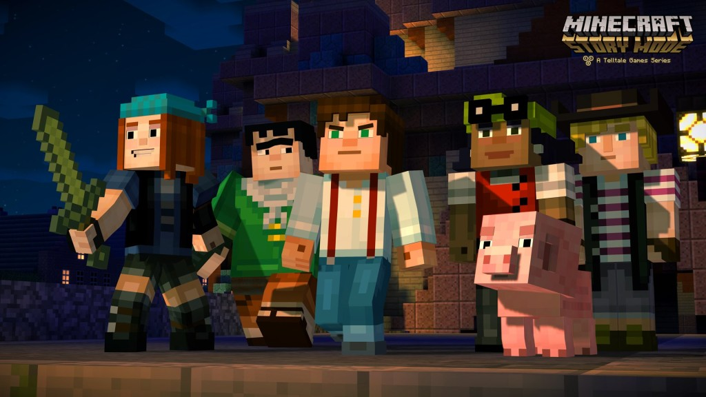 First 'Minecraft: Story Mode' Trailer Features an Unlikely Band of Heroes and Also a Pig