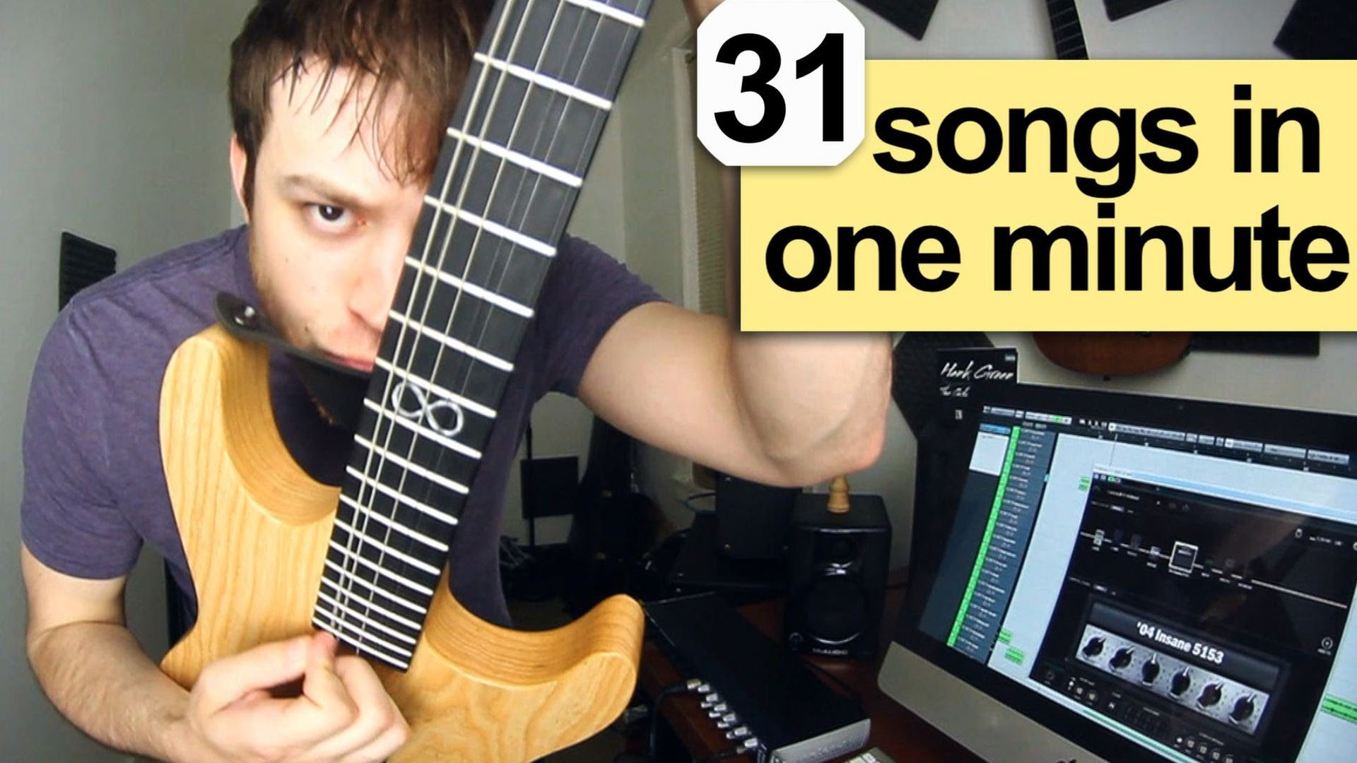 Guitarist Quickly Performs Riffs From Thirty-One Different Songs in