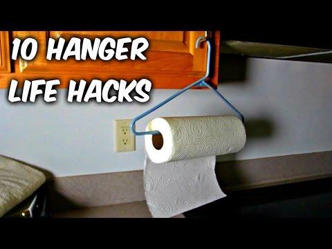 handy life hacks using clothes hangers. Black Bedroom Furniture Sets. Home Design Ideas