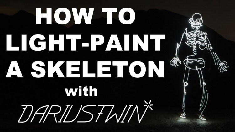 How to Light-Paint a Skeleton Using Long-Exposure Photography