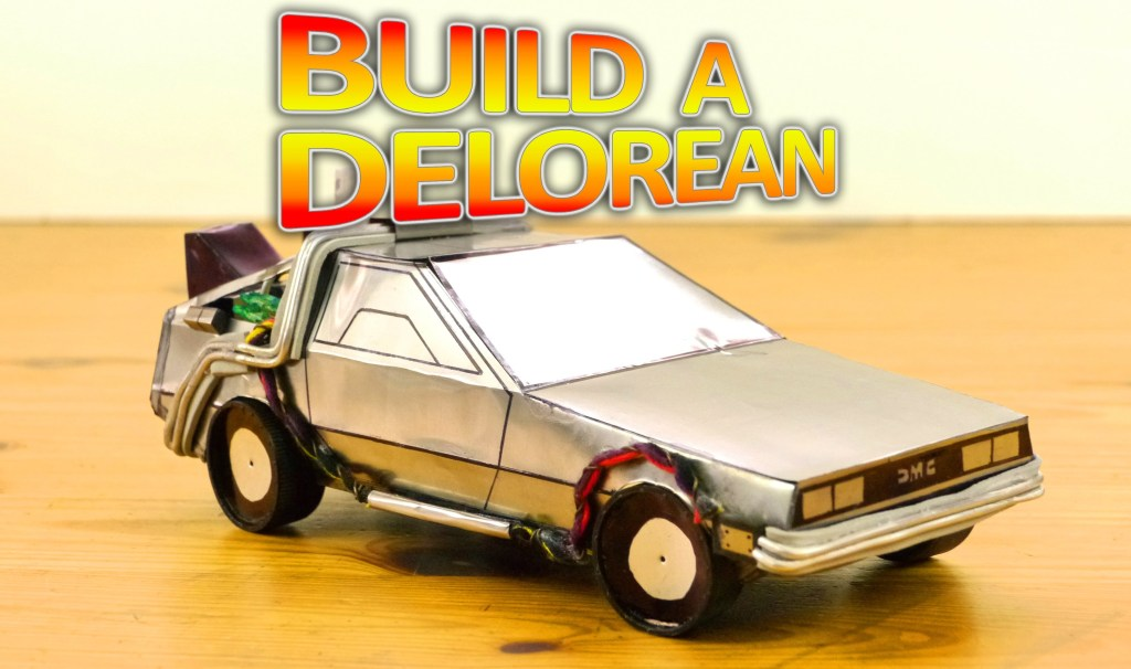 How to Make the DeLorean Time Machine From 'Back to the Future' Using Pepsi Cans and Household Items