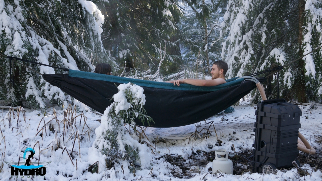 The Hydo Hammock, A Portable Hot Tub With a Separate Heating System