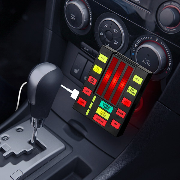 a talking usb car charger that looks like kitt 39 s voice box. Black Bedroom Furniture Sets. Home Design Ideas