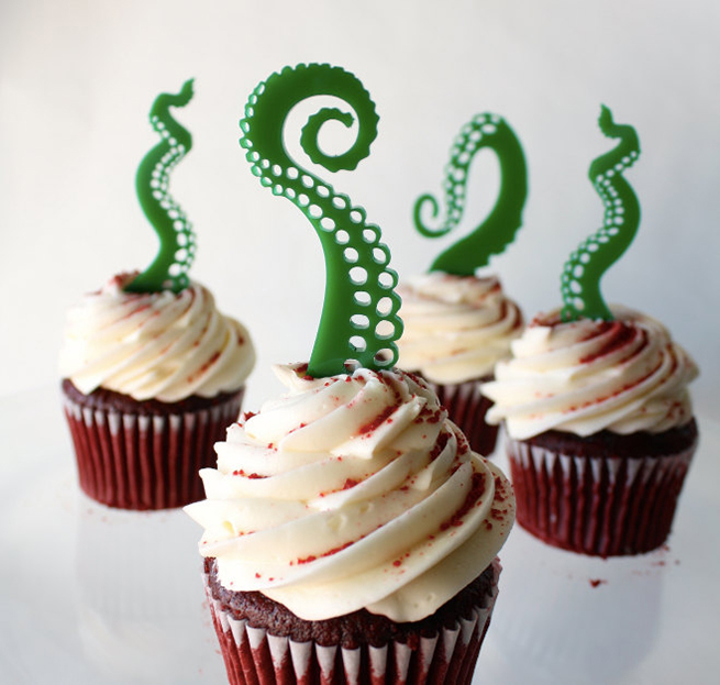 Tentacle Cupcake Toppers