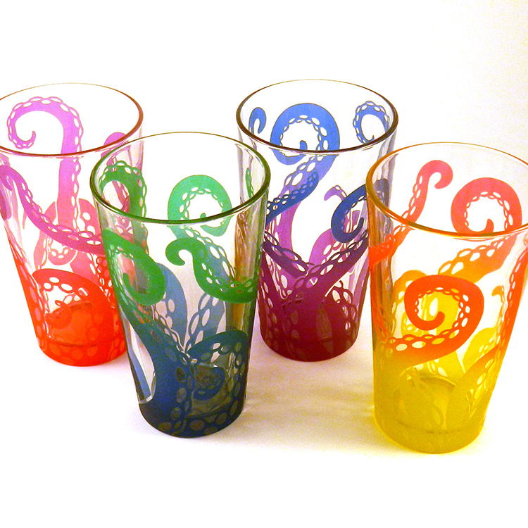 Embracing Tentacles Pint Glasses