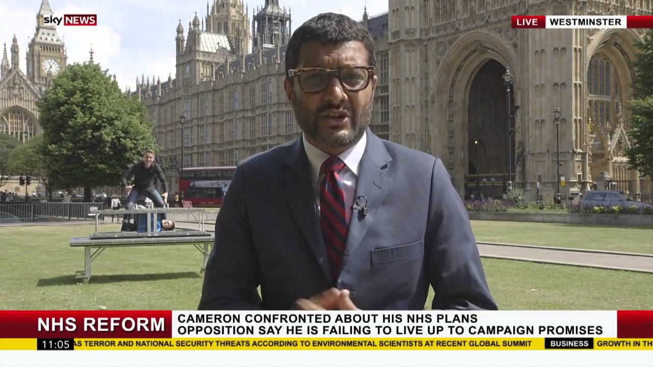 Magicians Young & Strange Appear to Perform an Impressive Illusion Behind a Live Sky News Broadcast