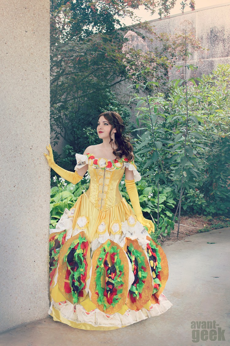 Taco Belle Is A Beautiful Gown By Artist AvantGeek That Combines Bell Elements And The Worn Disney Princess From Beauty Beast
