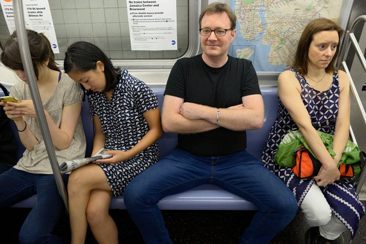 WNYC New Yorker Stock Photo - Manspreading