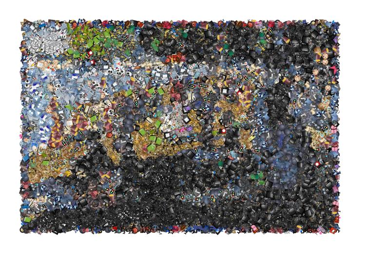 A Sunday on La Grande Jatte emoji mosaic