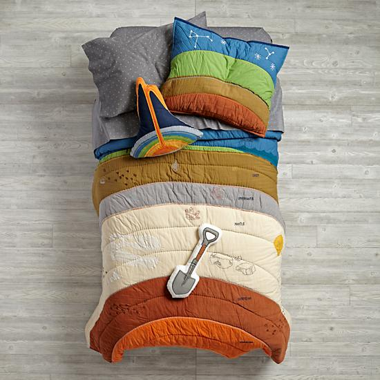 A Unique Bed Set That Represents The Different Geological