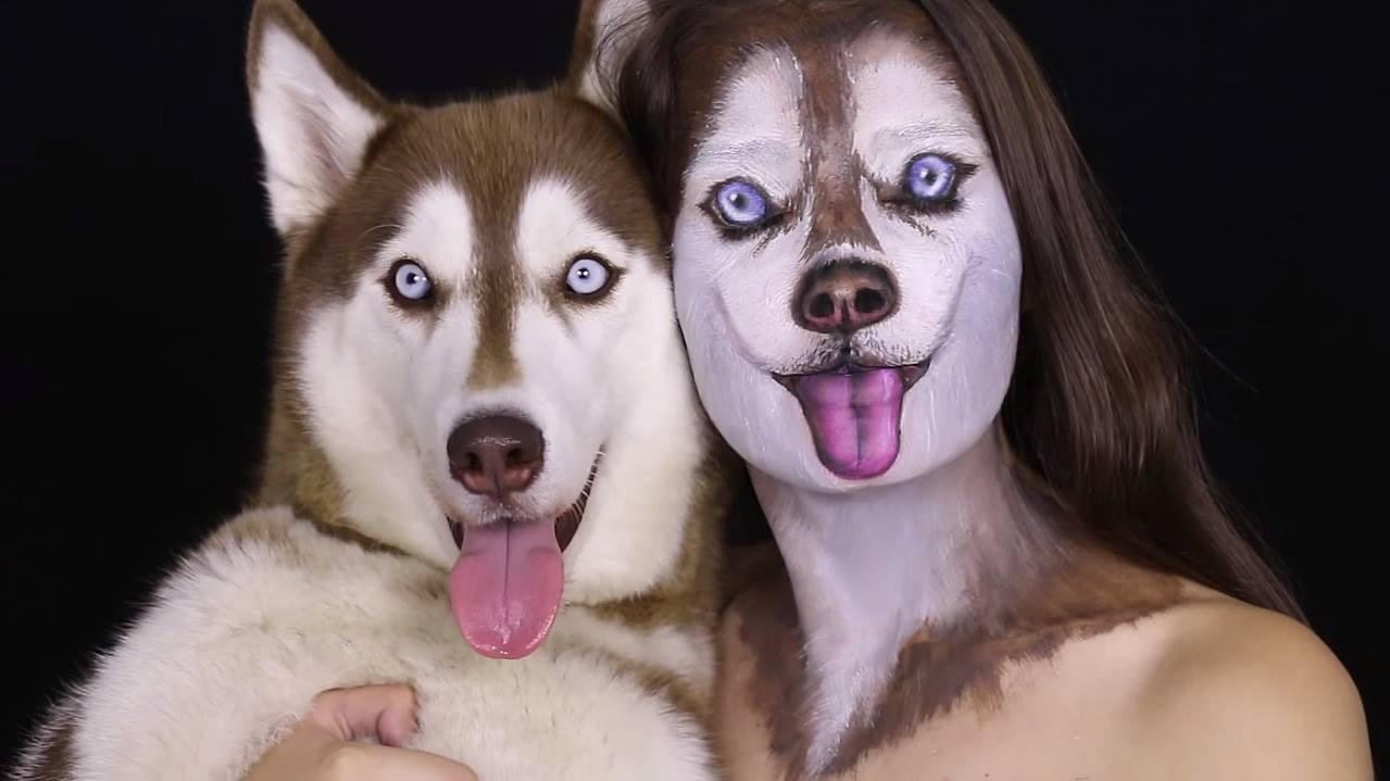 Israeli artist demonstrates how to create a realistic siberian husky israeli artist demonstrates how to create a realistic siberian husky face with makeup baditri Image collections