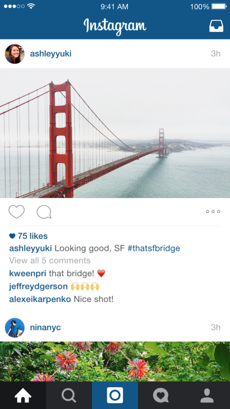 Instagram landscape of Golden Gate Bridge