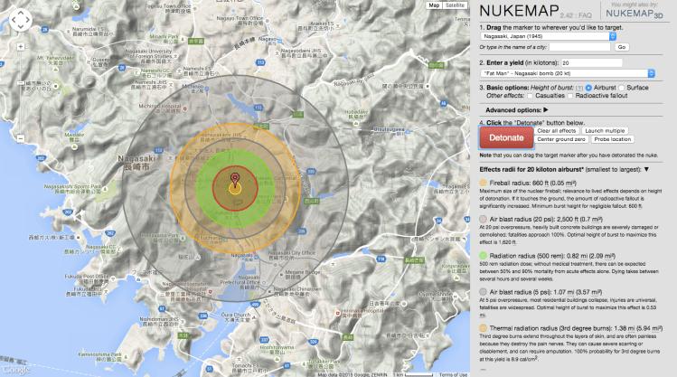 NUKEMAP Nagasaki