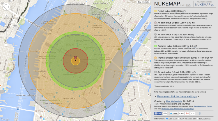NUKEMAP New York