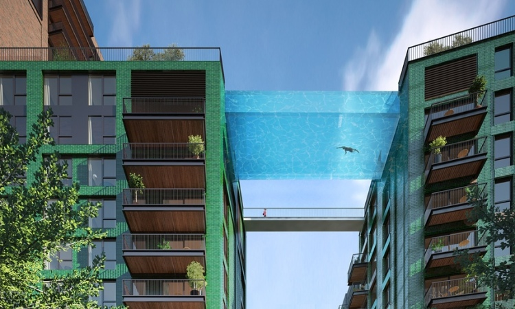 "Translucent free-floating ""sky pool"""