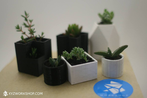 3D-Printed Chess Set Planters