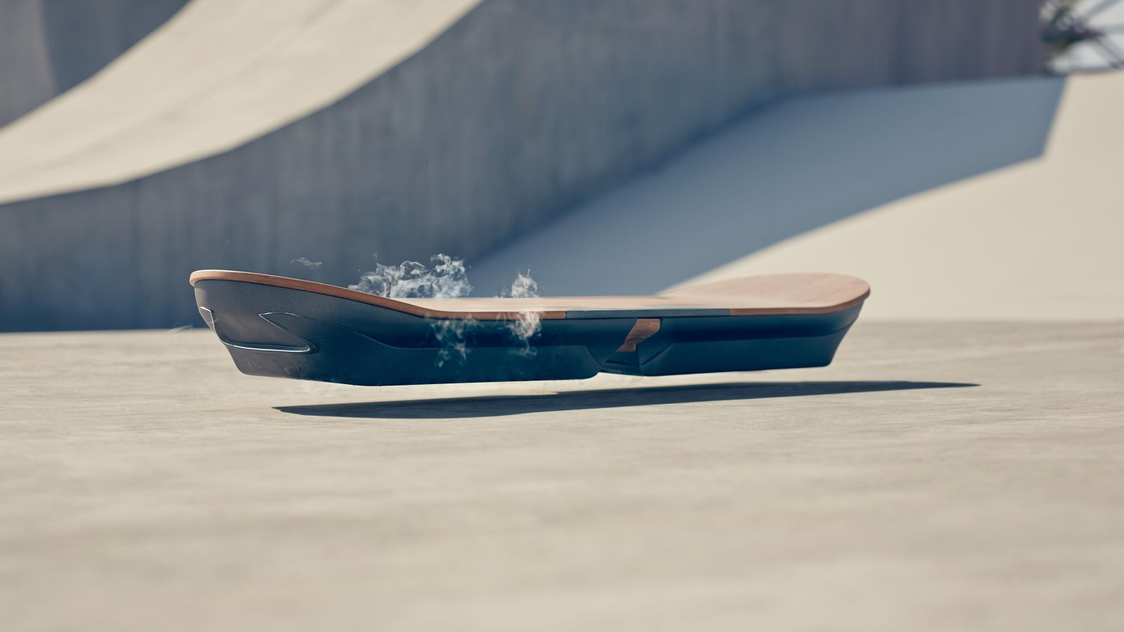 SLIDE, A Hoverboard Developed by Lexus That Uses Magnetic Levitation and Nitrogen-Cooled Superconductors