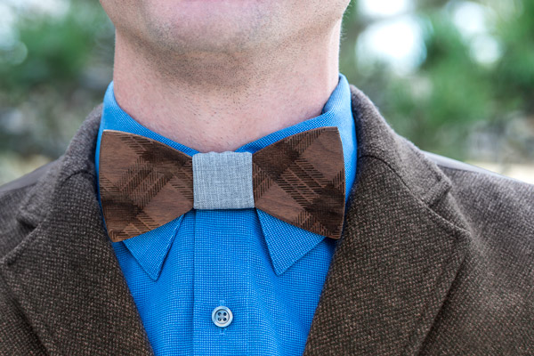 wooden bow tie 1