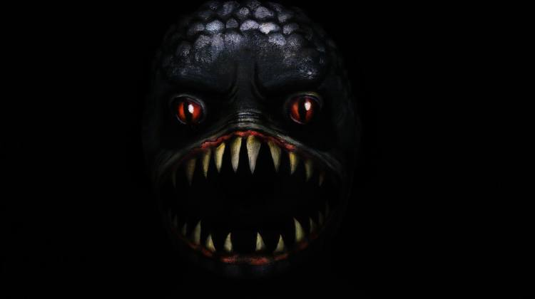 Piranha Face Painting