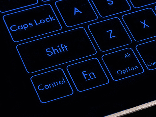 Bastron Smart Glass Keyboard Close Up on Buttons