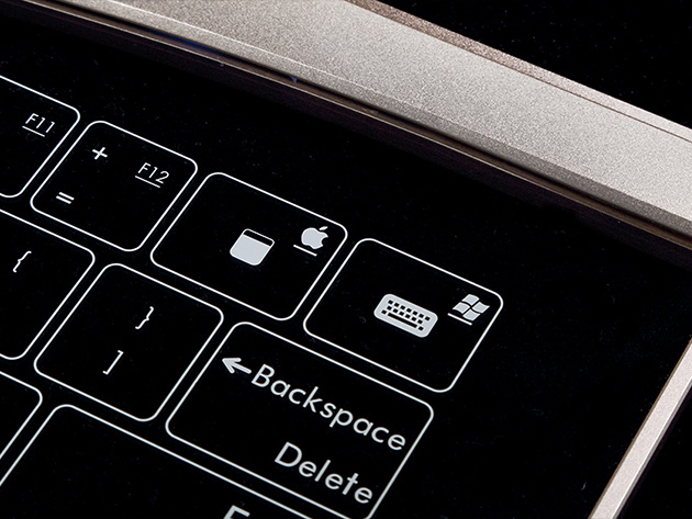 Bastron Smart Glass Keyboard Mac and Windows Buttons