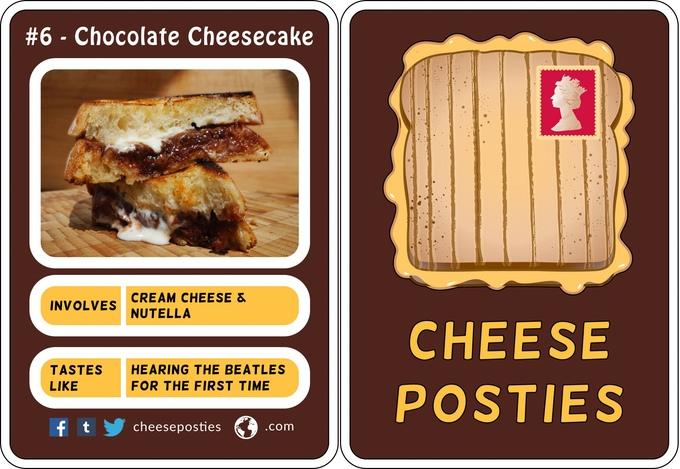 Cheese Posties Chocolate Cheesecake