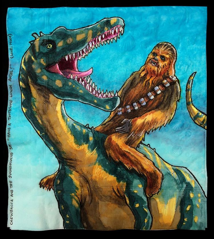 Chewbacca Rides a Suchomimus