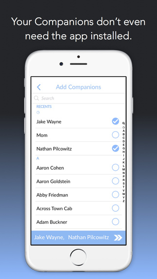 Companion App Contacts