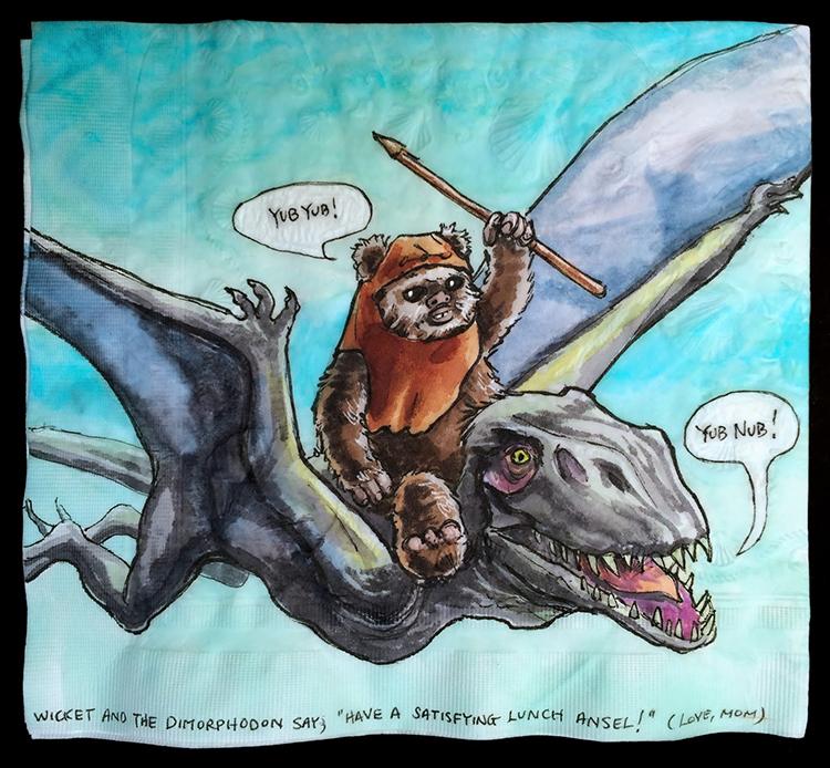 Wicket the Ewok Rides a Dimorphodon