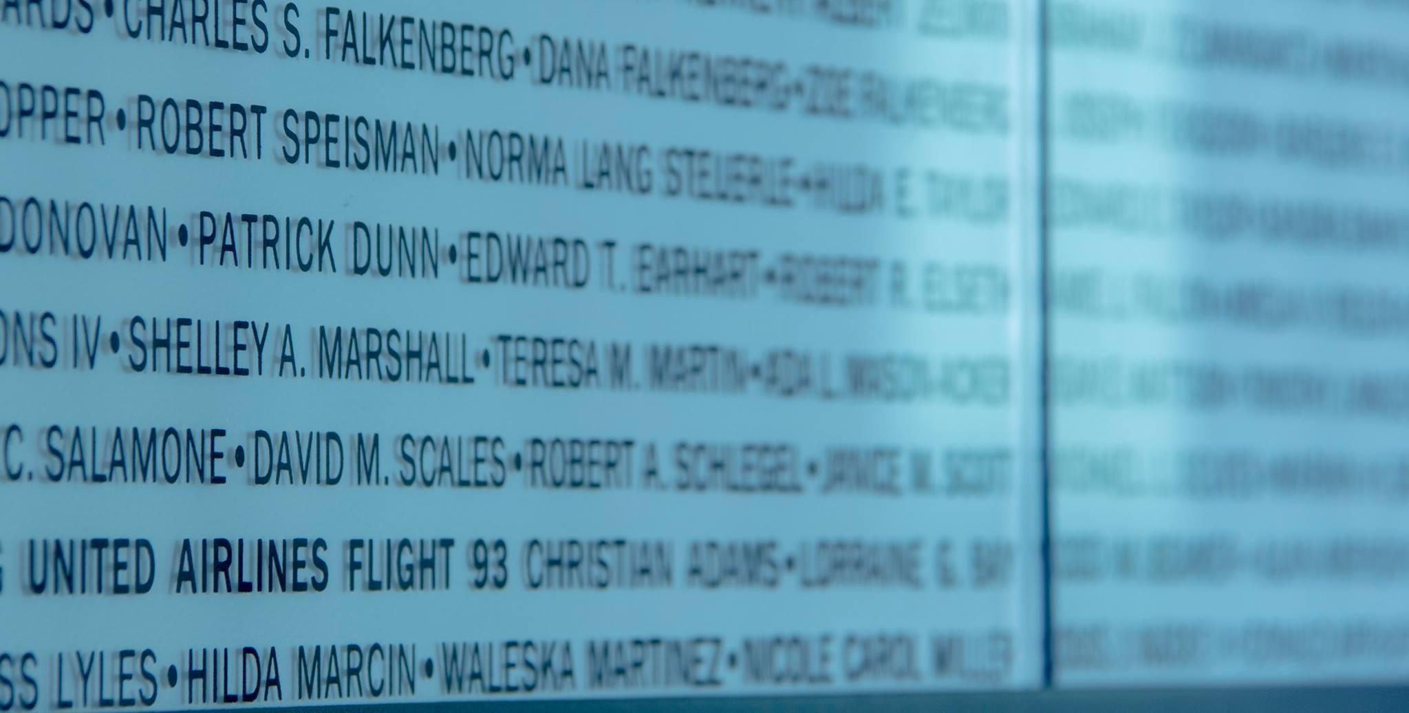 Flight 93 Memorial Remembrance Wall