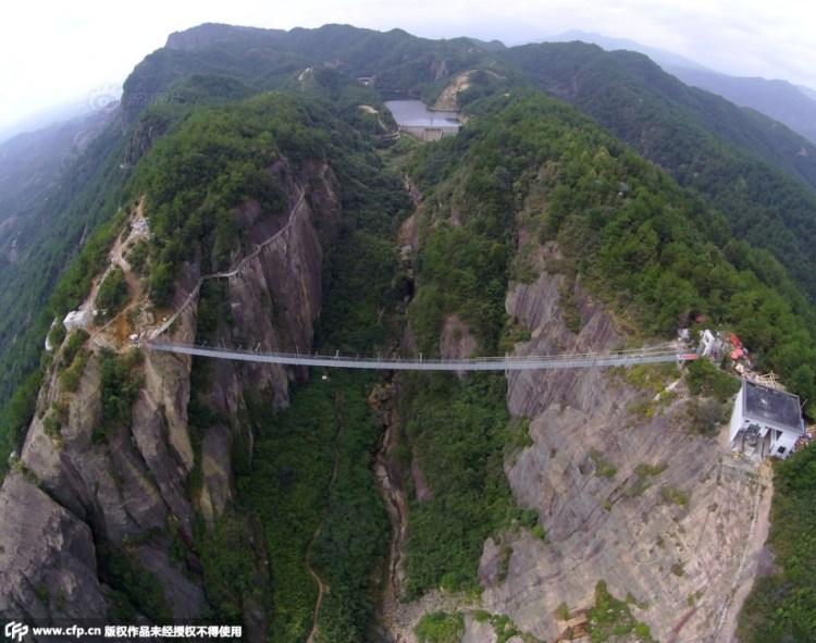 World's Longest Glass Suspension Bridge
