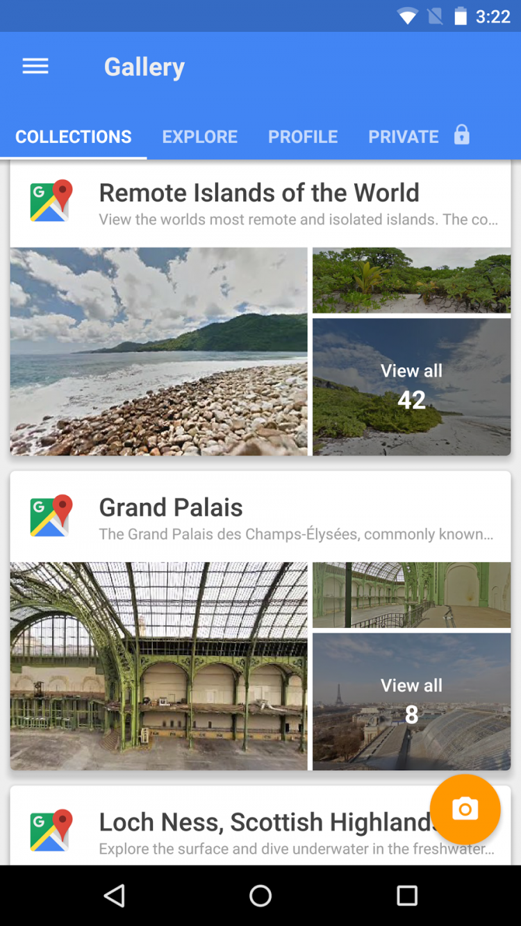 Google Street View App Locations