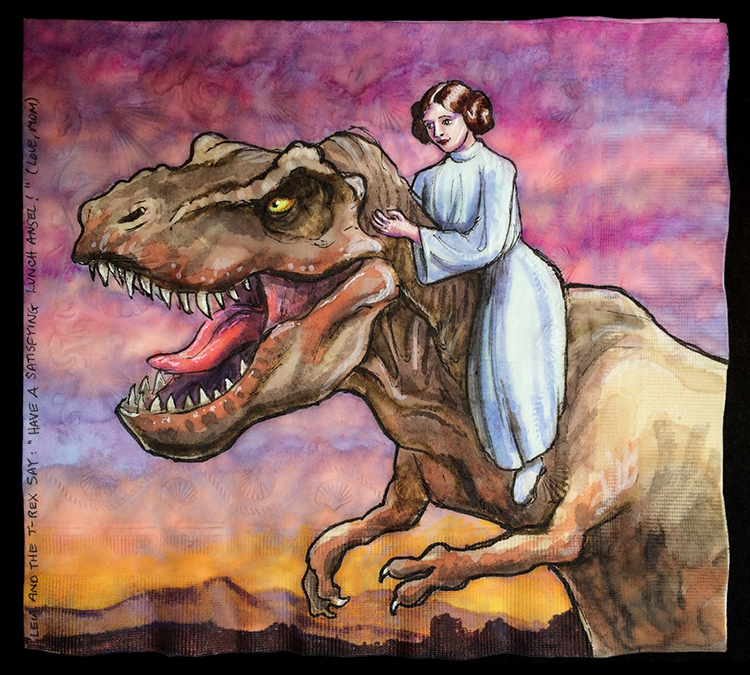 Princess Leia Rides a T-Rex
