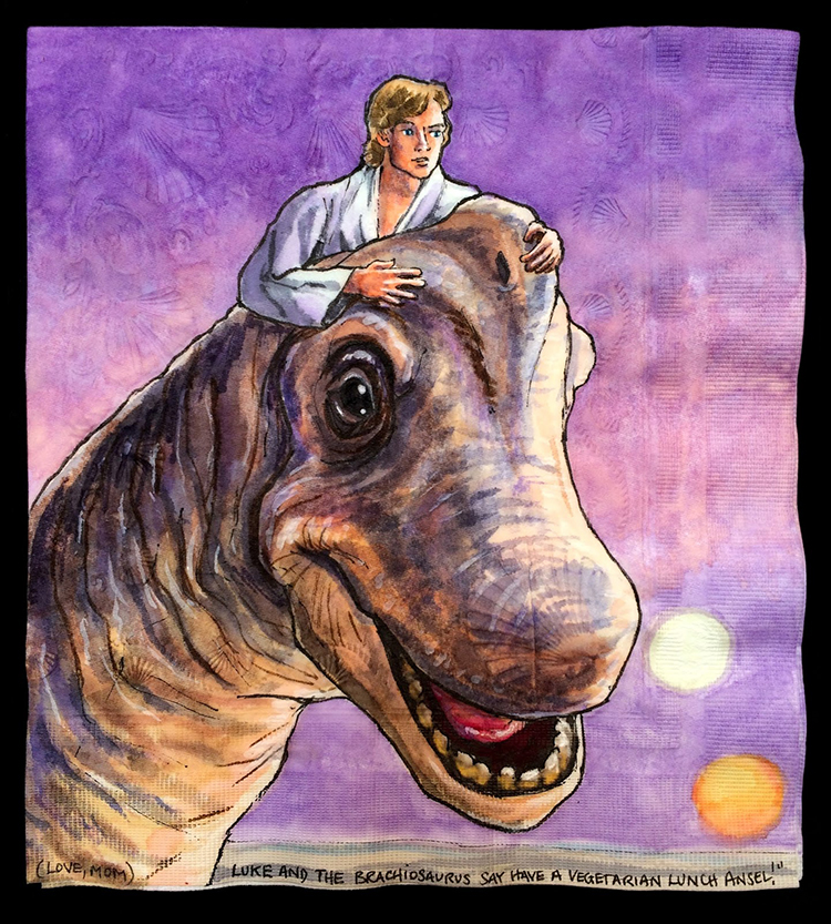Luke Skywalker with Brachiosaurus