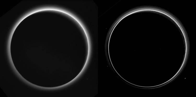 New Horizons Pluto Images Haze Layers
