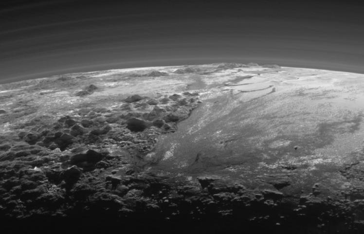Pluto Panorama Closer