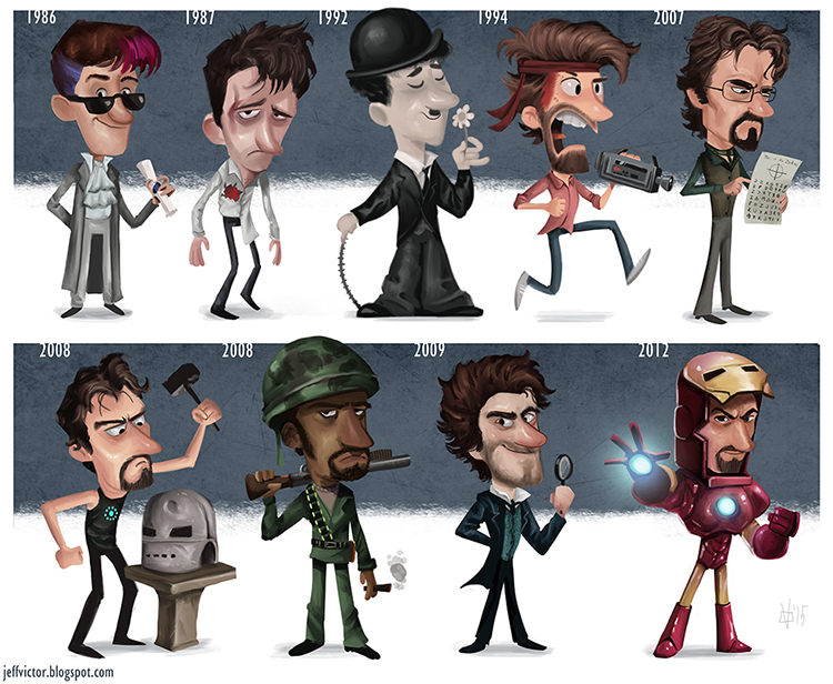 Robert Downey Jr evolution