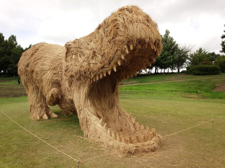 Straw Art Dino