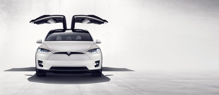 Tesla Model X Falcon Wings Open Front