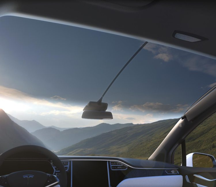 Tesla Model X Panoramic Windshield