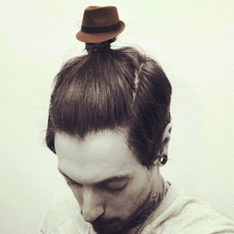 Tiny Man Bun Fedora