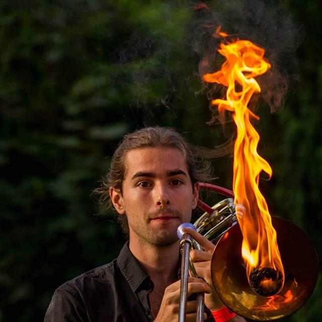 Valentin Guerin on the Pyro-Trombone