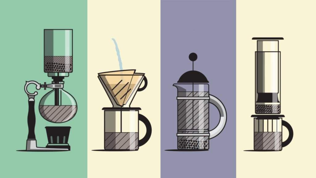 A Clever and Simple Animated Guide to Different Methods of Brewing Coffee